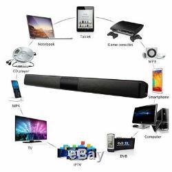 Barre De Son Sans Fil Bluetooth Speaker System Tv Home Cinéma Soundbar Caisson De Basses