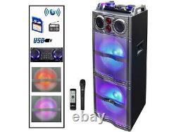 Befree Sound Bfs-5501 Double Subwoofer Bluetooth Haut-parleur De Partie Portable Avec Rea
