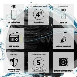 Bluetooth Étanche Atv Utv Rzr Polaris Stéréo 3 Haut-parleurs Du Système Audio Radio Fm