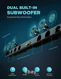 Bombaker Sound Bar, Subwoofer Intégré, Bluetooth 5.0, Dsp Et Odine 3d II