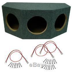 Car Audio 3 Triple 12 Stereo Subwoofer Enclosure Étanche Président Mdf Boîte Sub