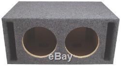 Car Audio Double 12 Emplacement Ported Stéréo Labyrinth Sub Subwoofer Box 3/4 Mdf