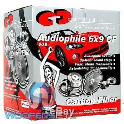 Cdt Audio Hd-690cf 6x9 Fibre De Carbone Caisson De Graves Midwoofer Speakers Pair Nouvelles