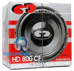 Cdt Audio Hd-800cf 8 En Fibre De Carbone De Fonte D'alliage Audiophile Subwoofer Nouveau