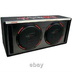 Cerwin Vega H6e12dv- 2x 12 2400w Loaded Box Ventilé Subwoofers Basse Speakersnew
