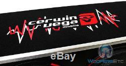 Cerwin Vega H6e12dv Deux 12 2400w Loaded Boîte Ventilé Subwoofers Enceintes Bass Nouveaux