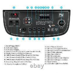 Double 10 Bluetooth Haut-parleur Portable Subwoofer Pro Dj Audio Pa System Karaoke Led