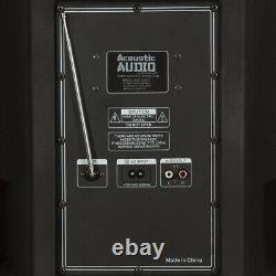 Haut-parleur De Partie Bluetooth Alimenté Par Batterie Audio Acoustique 15 Avec Lumières Et MIC