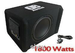 Haut-parleurs Audio De Voiture 12 Sous Woofer Boite Basse Amplifiée Active Construit Dans Amp 1800 W