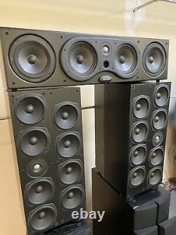 Haut-parleurs Audio Polk Srt Superior Towers Paire Subwoofer & Center Chanel S Fl