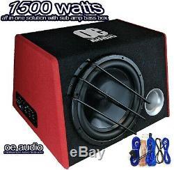 Haut-parleurs De Voiture 12 Sub Woofer Bassbox Amplified Actif Construit En Amp 1500w