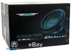 Image Dynamics Idmax12 V. 4 D4 Pro 12 Dual 4 Ohms 1800w Max Subwoofer Nouveau