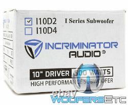 Incriminator Audio I10d2 10 Sous 500w Rms Double 2 Ohms Subwoofer Enceintes Bass Nouveau