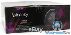 Infinity Ref1200s 12 Sous 1000w Shallow Mont Mince Caisson De Basses-parleurs Bass Nouveau