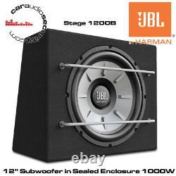 Jbl Stage 1200b 12 Car Audio Subwoofer 1000w Avec Original Jbl Enclosure Box