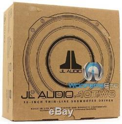 Jl Audio 10tw3-d8 Double 8 Ohms 10 Shallow Slim Mince Mont Subwoofer Nouveau