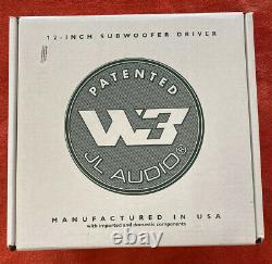 Jl Audio 12w3v3-4 Voiture 12 Sub 4-ohm 1000 Watt Max Subwoofer Bass Speaker Nouveau