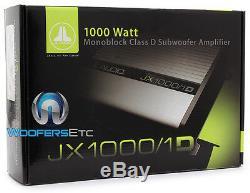 Jl Audio Jx1000 / 1d Amp 2000w Max Subwoofers Haut-parleurs D'ampli Basse 1000/1 Nouveau