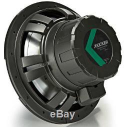Kicker 45kmf104 Marine Audio Bateau 10 Gratuit Air Sub 500 Watt 4 Ohm Subwoofer Nouveau
