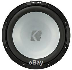 Kicker 45kmf124 Marine Audio Bateau 12 Gratuit Air Sub 600 Watt 4 Ohm Caisson De Graves Nouveau