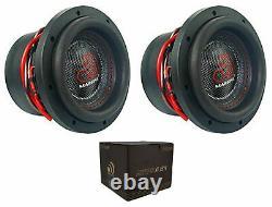 Massive Audio Hippoxl84 8 Dual 4 Ohm Car Audio Subwoofer 2800w 2 Speaker Deal