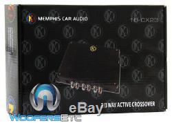 Memphis Cx23 Car 2/3 Way Active Pour Les Subwoofers Crossover Intervenants Nouveau Amplifier