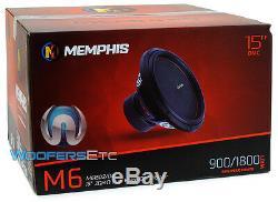 Memphis M615d4 15 Sub Pro 1800w Car Audio Dual 4 Ohms Caisson De Basses-parleurs Bass Nouveau