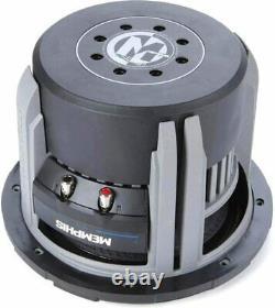 Memphis M71012 Sub 10 1500w Sélectionnable 1- Ou 2-ohm Impedance Subwoofer Haut-parleur