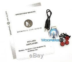 Memphis Mcx1.1100 Monoblock 2200w Max Subwoofers Haut-parleurs Amplificateur De Classe D Nouveau