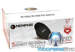 Memphis Srxs1244 12 Sub 500w Dual 4-ohm Shallow Thin Subwoofer Bass Speaker Nouveau