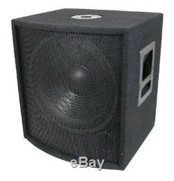 Nouveau 18 Subwoofer Président. Audio Pro. Bass Woofer. En Direct Woofer Sonore Avec La Boîte. Dj. Pennsylvanie