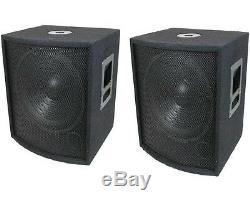 Nouveau (2) 15 Subwoofer Haut-parleurs Paire. Woofer Boîte De Sub. Dj. Pennsylvanie. Bass Audio Pro Réglé. 8ohm
