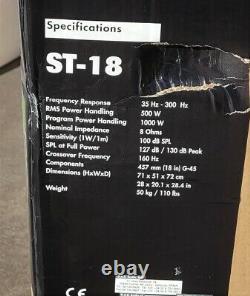 Nouveau Das St-18 Portable Pro Sound 18 Horn Loaded Subwoofer Speaker