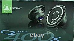 Nouveau Jl Audio C2-400x 4 100w 2 Way Full Range Coaxial Car Stereo Haut-parleurs