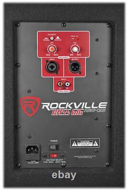 Nouveau Rockville Rbg12s 12 1400w Subwoofer Subwoofer Powered Pour Les Systèmes De Son De Church