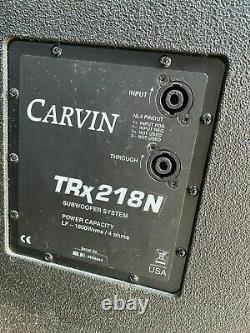 Pair Utilisé Carvin Trx218 Dual 18 High Output Subwoofer (pair) Super Son Small