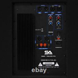 Paire Audio Sismique De 15 Sub Cabs Powered Pa Dj Pro Audio Band Active 15 Subs