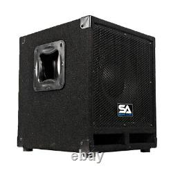 Paire D'armoires Pro Audio 12 Powered Pa / Band / Dj / Kj Subs