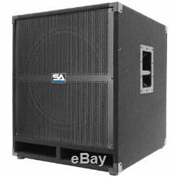Paire De Sismique Audio 18 Pa Haut-parleurs Actifs Subwoofer 500 Watts Chaque