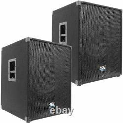 Paire De Sismique Audio 18 Pa Haut-parleurs Actifs Subwoofer 800 Watts Chacun