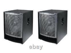 Peavey (2) Qw118 Pro Audio Passive Sub 3200w Single 18 Arena Subwoofer Pair Nouveau