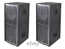 Peavey (2) Qw218 Pro Audio Passive Sub 6400w Dual 18 Arena Subwoofer Pair Nouveau