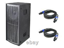 Peavey Qw218 Pro Audio Passive Sub 6400w Dual 18 Arena Subwoofer & (2) Câbles