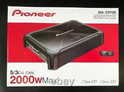Pioneer Gm-d9705 5 Canaux Haut-parleurs Subwoofers 2000 Watts Car Audio Amp Classe Fd