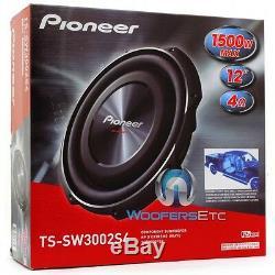 Pioneer Ts-sw3002s4 12 1500w De 4 Ohms Shallow Slim Mont Subwoofer