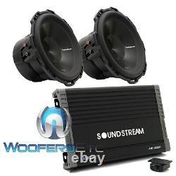 Pkg 2 Rockford Fosgate P3d4-12 12 Sous-feuilleurs Speakers + Ar1.4500d Amplifier Nouveau