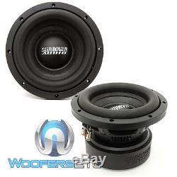 Pkg (2) Sundown Audio E8 V. 5 D4 8 Subwoofers Parleurs + Sae-600d Bass Amplifier