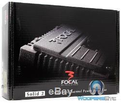 Pkg Focal Solid-1 + 2 = Solid-3-canal 700 Watt Amplificateur Package Black Car Amp
