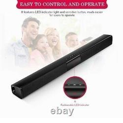 Portable Surround Sound Bar 4 Haut-parleur Système Wireless Subwoofer Tv Home Theater