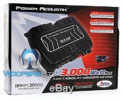 Power Acoustik Bamf1-3000d Monoblock De Caissons De Basse Basse Orateurs Amplificateur